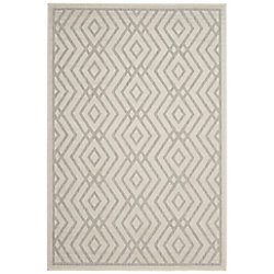 Safavieh Cottage Andrew Light Grey / Cream 5 ft. 3 inch x 7 ft. 7 inch Indoor/Outdoor Area Rug