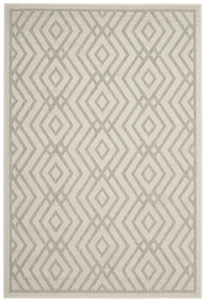 Cottage Andrew Light Grey / Cream 6 ft. 7 inch x 9 ft. 6 inch Indoor/Outdoor Area Rug