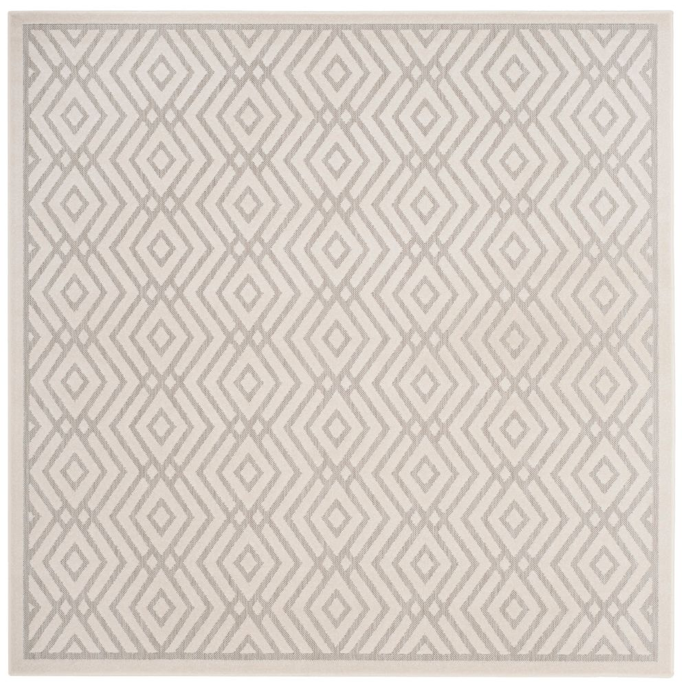 Cottage Andrew Light Grey / Cream 6 ft. 7 inch x 6 ft. 7 inch Indoor/Outdoor Square Area Rug