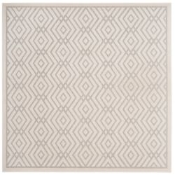 Safavieh Cottage Andrew Light Grey / Cream 6 ft. 7 inch x 6 ft. 7 inch Indoor/Outdoor Square Area Rug