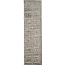 Safavieh Cottage Cedric Light Grey / Grey 2 ft. 3 inch x 8 ft. Indoor/Outdoor Runner