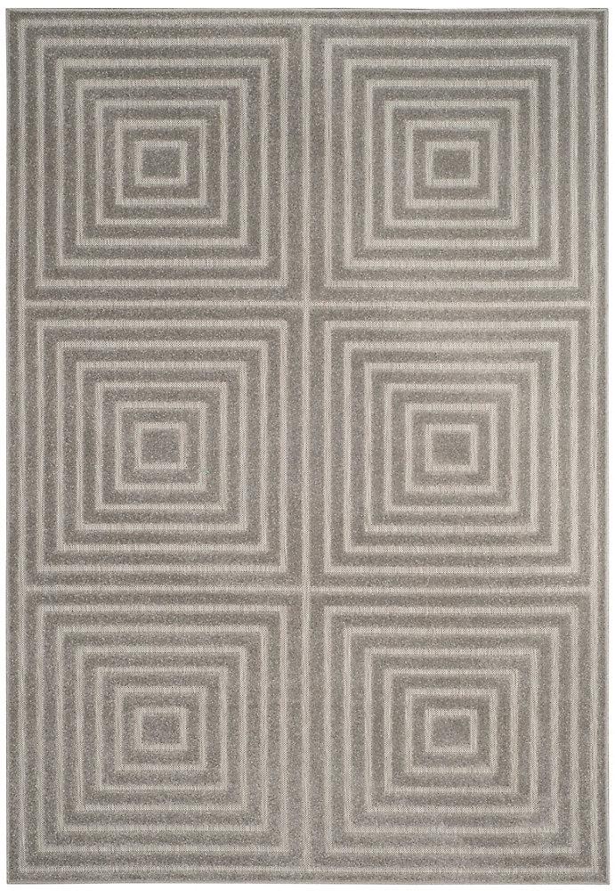 Cottage Cedric Light Grey / Grey 5 ft. 3 inch x 7 ft. 7 inch Indoor/Outdoor Area Rug