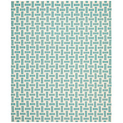 Safavieh Dhurries James Turquoise / Ivory 8 ft. x 10 ft. Indoor Area Rug