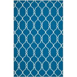 Safavieh Tapis d'intérieur, 4 pi x 6 pi, Dhurries Ralph, bleu foncé