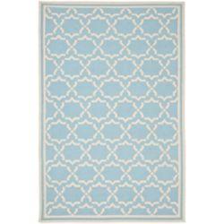 Safavieh Dhurries Nader Light Blue / Ivory 5 ft. x 8 ft. Indoor Area Rug