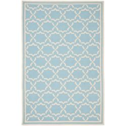 Safavieh Dhurries Nader Light Blue / Ivory 8 ft. x 10 ft. Indoor Area Rug