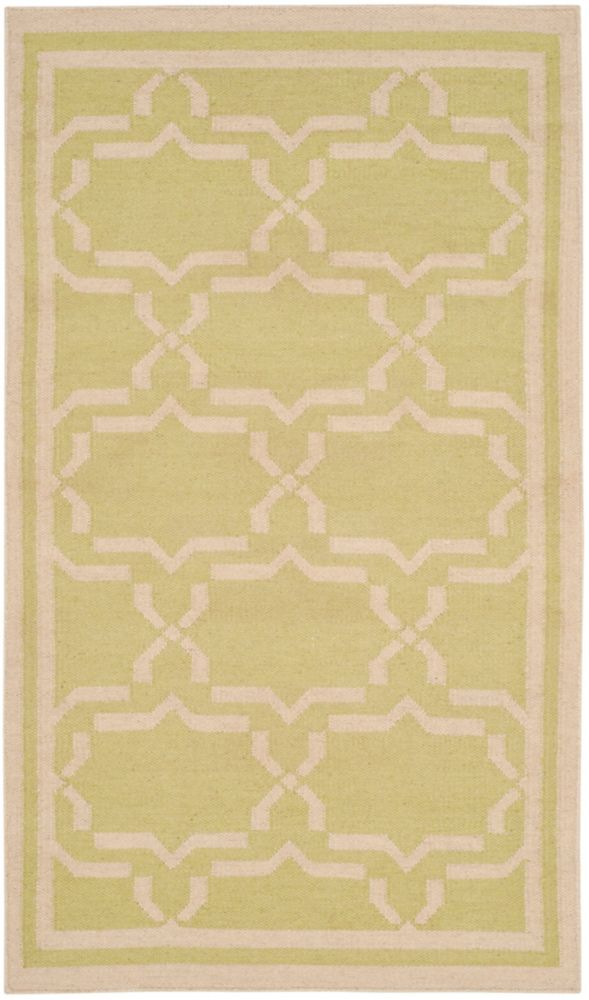 Safavieh Dhurries Nader Light Green / Ivory 3 ft. x 5 ft. Indoor Area Rug