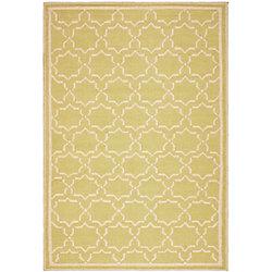 Safavieh Dhurries Nader Light Green / Ivory 4 ft. x 6 ft. Indoor Area Rug