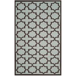 Safavieh Dhurries Noel Light Blue 6 ft. x 9 ft. Indoor Area Rug