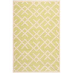 Safavieh Dhurries Iris Light Green / Ivory 5 ft. x 8 ft. Indoor Area Rug