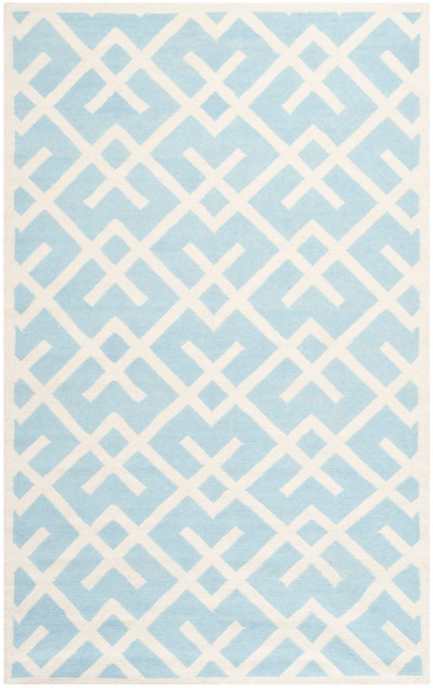 Safavieh Dhurries Iris Light Blue / Ivory 6 ft. x 9 ft. Indoor Area Rug