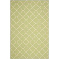 Safavieh Dhurries Franz Light Green / Ivory 6 ft. x 9 ft. Indoor Area Rug