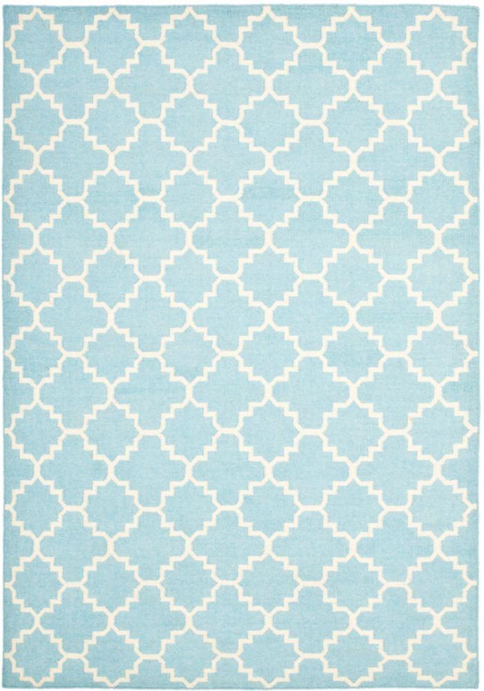 Safavieh Dhurries Franz Light Blue / Ivory 4 ft. x 6 ft. Indoor Area Rug