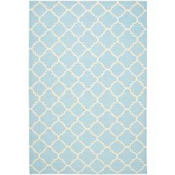 Safavieh Dhurries Franz Light Blue / Ivory 8 ft. x 10 ft. Indoor Area Rug