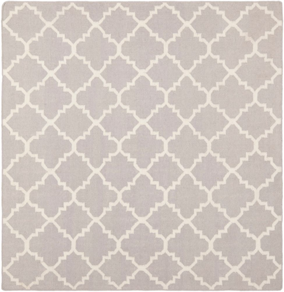 Safavieh Dhurries Franz Grey / Ivory 8 ft. x 8 ft. Indoor Square Area Rug