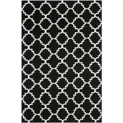 Safavieh Dhurries Franz Black / Ivory 6 ft. x 9 ft. Indoor Area Rug