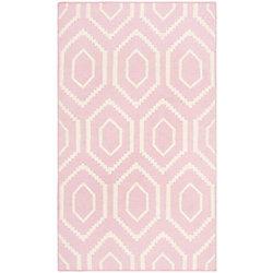 Safavieh Dhurries Nikola Pink / Ivory 3 ft. x 5 ft. Indoor Area Rug