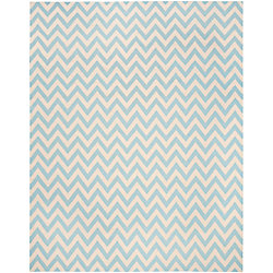 Safavieh Dhurries Ash Blue / Ivory 8 ft. x 10 ft. Indoor Area Rug