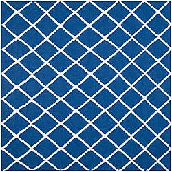 Safavieh Dhurries Lizzie Dark Blue 6 ft. x 6 ft. Indoor Square Area Rug
