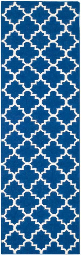 Safavieh Dhurries Lucy Dark Blue 2 ft. 6 inch x 10 ft. Indoor Runner