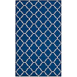 Safavieh Dhurries Lucy Dark Blue 5 ft. x 8 ft. Indoor Area Rug