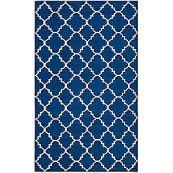 Safavieh Dhurries Lucy Dark Blue 6 ft. x 9 ft. Indoor Area Rug