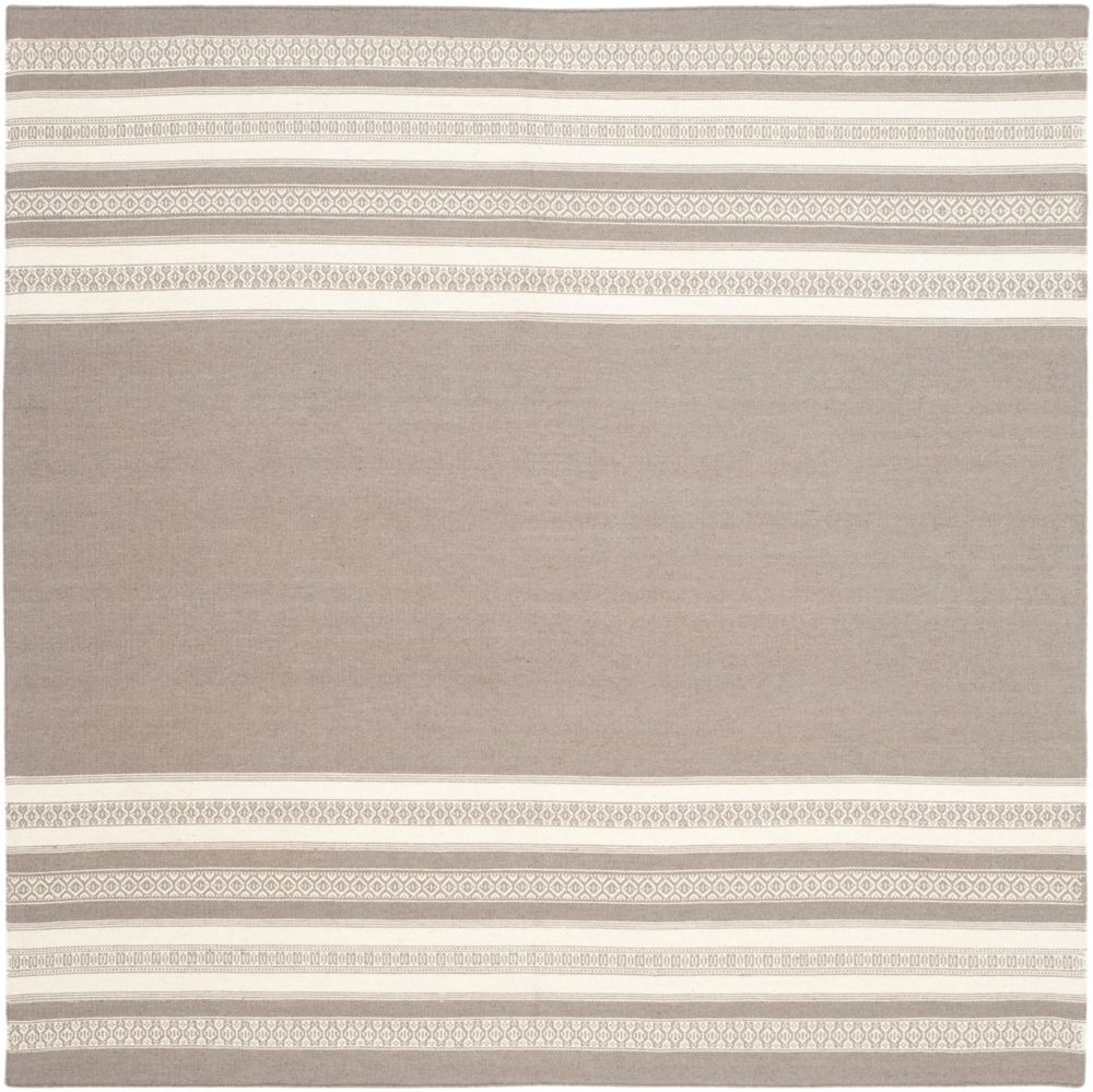 Safavieh Dhurries Selma Light Brown 6 ft. x 6 ft. Indoor Square Area Rug