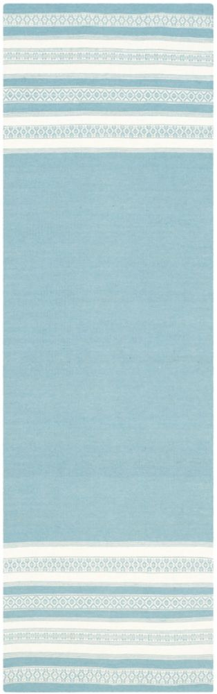 Safavieh Dhurries Selma Turquoise 2 ft. 6 inch x 8 ft. Indoor Runner