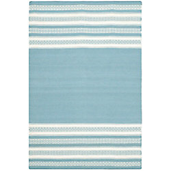 Safavieh Dhurries Selma Turquoise 4 ft. x 6 ft. Indoor Area Rug