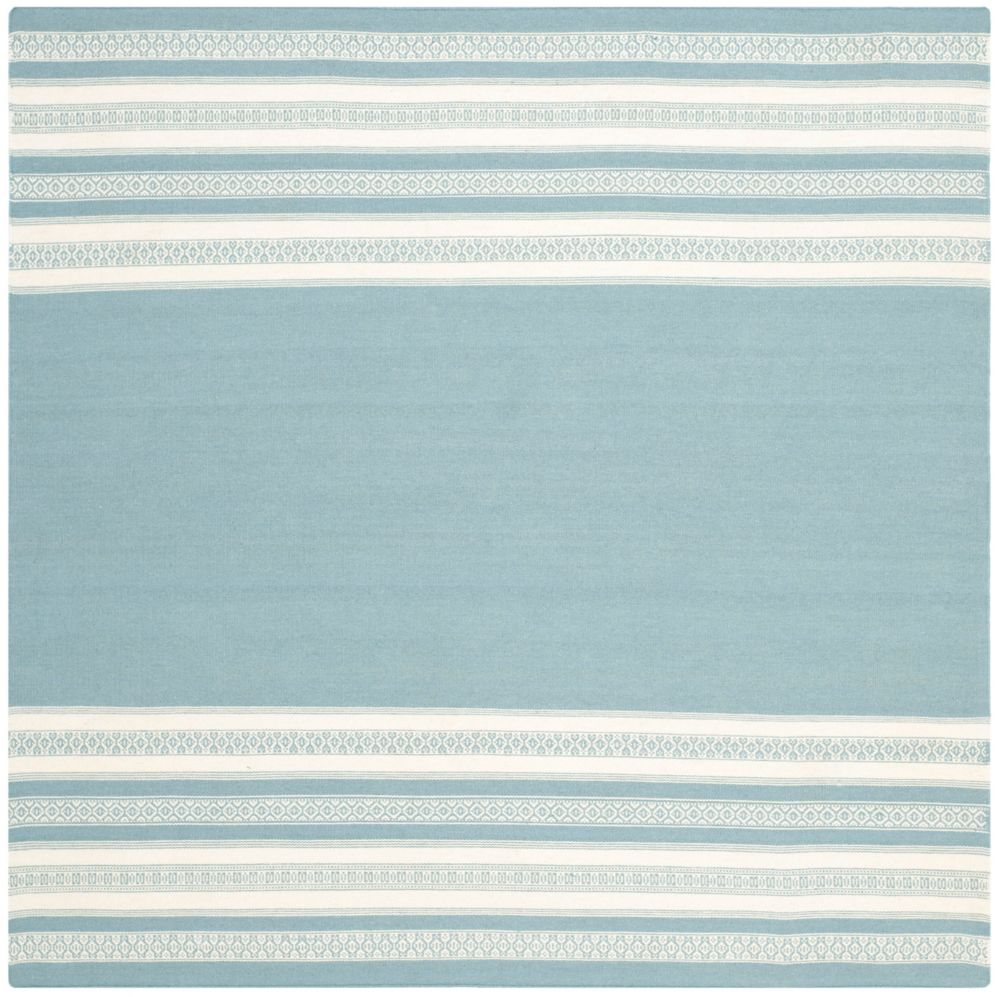 Safavieh Dhurries Selma Turquoise 6 ft. x 6 ft. Indoor Square Area Rug