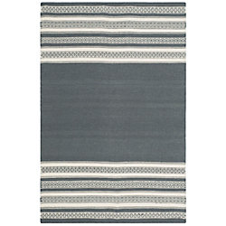 Safavieh Dhurries Selma Dark Grey 4 ft. x 6 ft. Indoor Area Rug