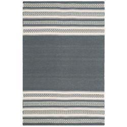 Safavieh Tapis d'intérieur, 4 pi x 6 pi, Dhurries Selma, dark gris