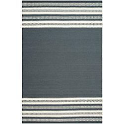 Safavieh Dhurries Selma Dark Grey 6 ft. x 9 ft. Indoor Area Rug
