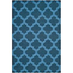 Safavieh Dhurries Jean Ink / Blue 4 ft. x 6 ft. Indoor Area Rug