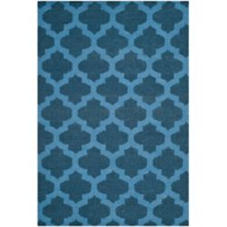 Safavieh Dhurries Jean Ink / Blue 4 ft. x 6 ft. Indoor Area Rug
