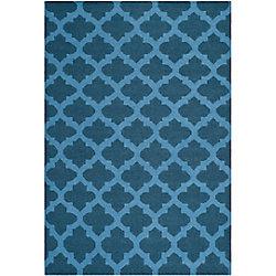 Safavieh Dhurries Jean Ink / Blue 5 ft. x 8 ft. Indoor Area Rug