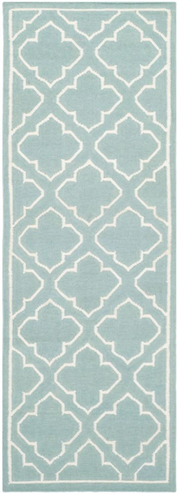 Safavieh Dhurries Spencer Blue / Ivory 2 ft. 6 inch x 7 ft. Indoor Runner