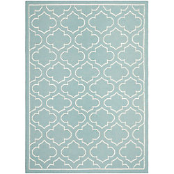 Safavieh Dhurries Spencer Blue / Ivory 6 ft. x 9 ft. Indoor Area Rug