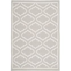 Safavieh Dhurries Spencer Grey / Ivory 4 ft. x 6 ft. Indoor Area Rug