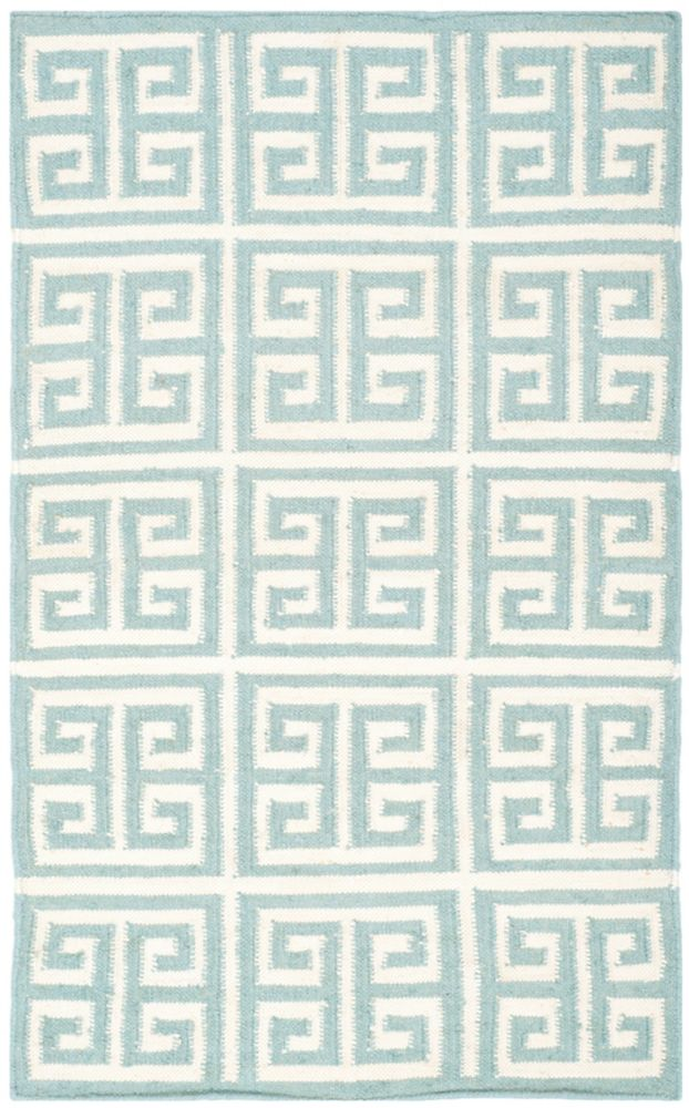Safavieh Dhurries Damian Blue / Ivory 3 ft. x 5 ft. Indoor Area Rug