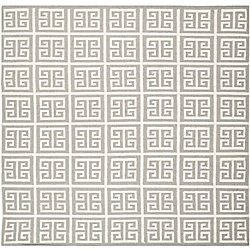 Safavieh Dhurries Damian Grey / Ivory 7 ft. x 7 ft. Indoor Square Area Rug