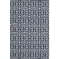 Safavieh Dhurries Damian Navy / Ivory 4 ft. x 6 ft. Indoor Area Rug