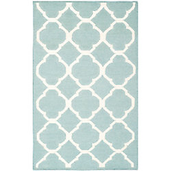 Safavieh Dhurries Andy Blue / Ivory 2 ft. 6 inch x 4 ft. Indoor Area Rug