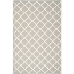 Safavieh Dhurries Andy Grey / Ivory 6 ft. x 9 ft. Indoor Area Rug