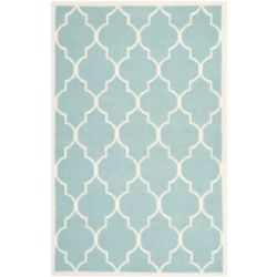 Safavieh Dhurries Fiona Light Blue / Ivory 5 ft. x 8 ft. Indoor Area Rug