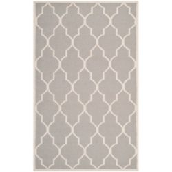 Safavieh Dhurries Fiona Dark Grey / Ivory 4 ft. x 6 ft. Indoor Area Rug