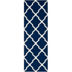 Safavieh Dhurries Flint Navy / Ivory 2 ft. 6 inch x 10 ft. Indoor Runner
