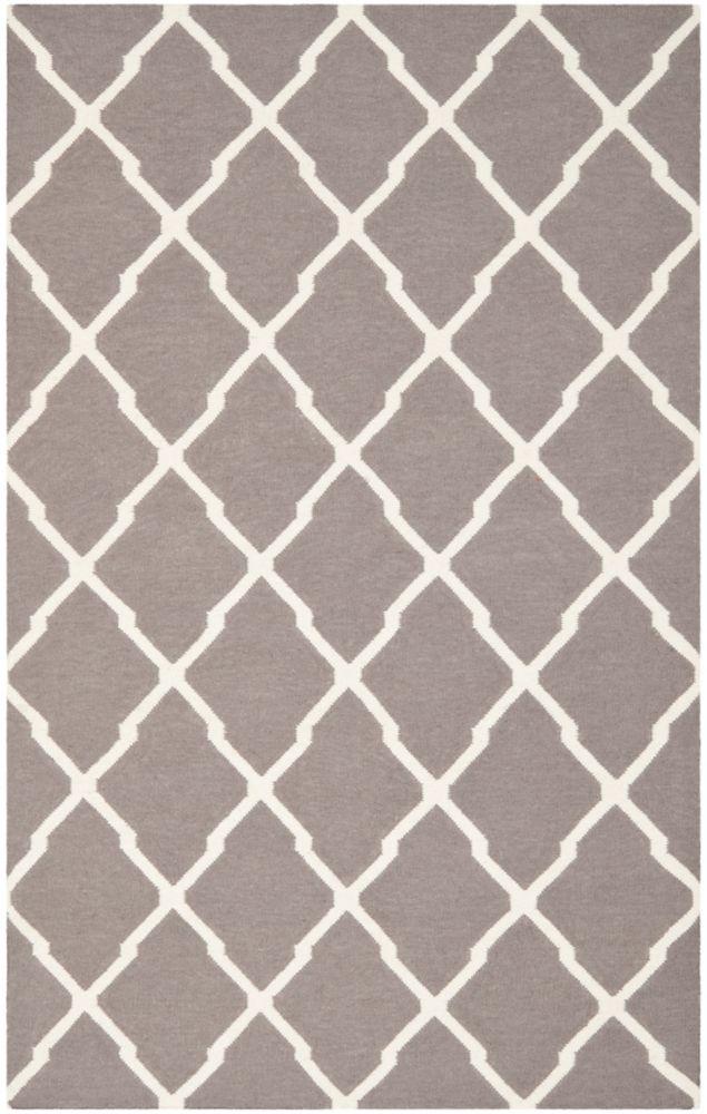 Safavieh Dhurries Flint Dark Grey / Ivory 5 ft. x 8 ft. Indoor Area Rug