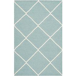 Safavieh Dhurries Garrett Light Blue / Ivory 2 ft. 6 inch x 4 ft. Indoor Area Rug
