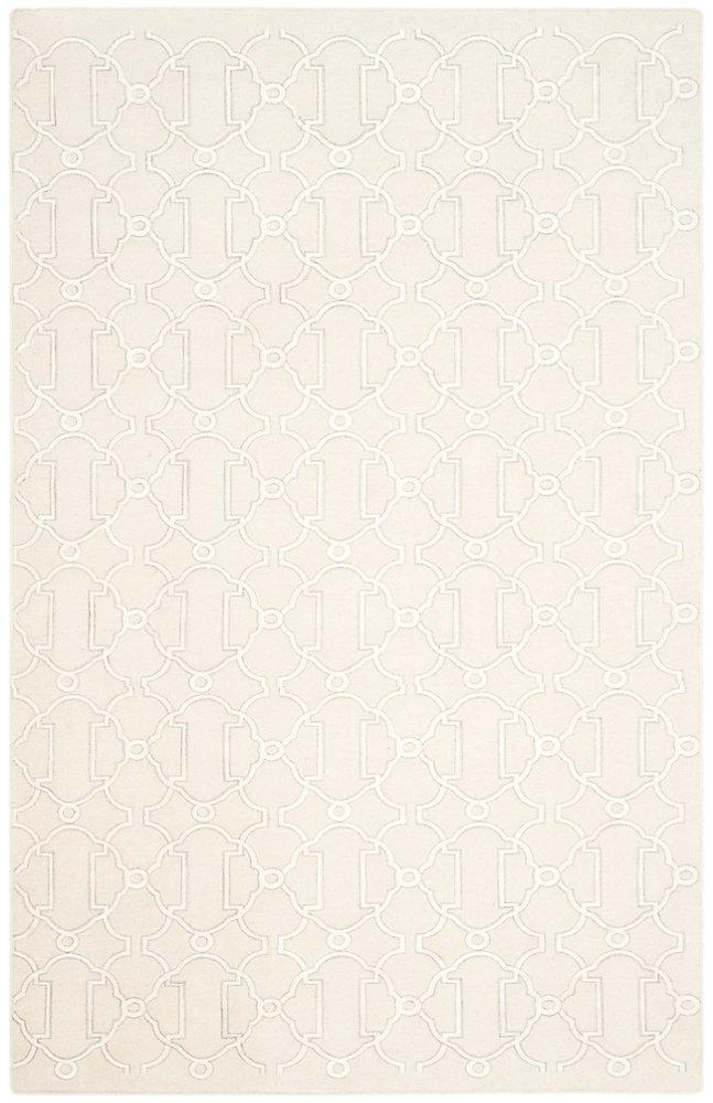 Tapis d'intérieur, 4 pi x 6 pi, Dhurries Evelyn, beige